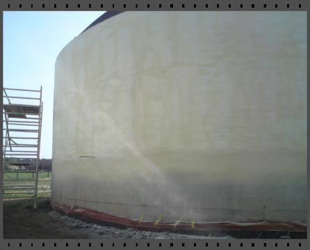 Biogáz-tartályok szigetelése poliuretánnal