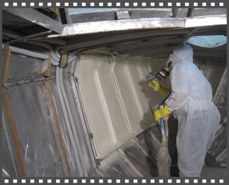 Hajó szigetelés szórt poliuretánnal hő ellen