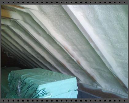Tetőtér hőszigetelése zárt cellás habbal